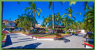 It S A Park Like Square That Is Central Meeting Place As Its Name Implies The Hotel Vogue Bungalows De Los Arbolitos Located Diagonally Across